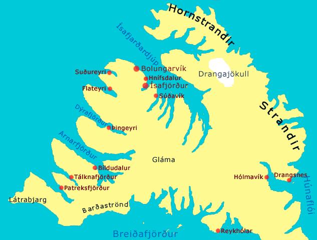 The Hornstrandir peninsula - Hornstrandir Nature Reserve