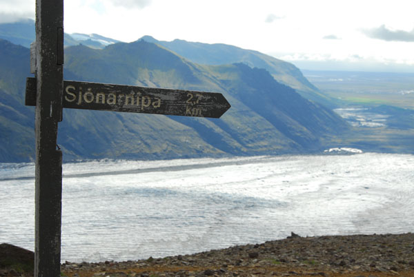 Hiking routes in Skaftafell