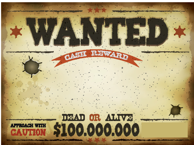 Wanted poster for Fjalla-Eyvindur and Halla, the Bonnie and Clyde of Iceland