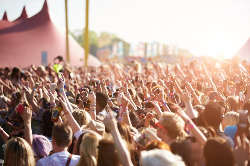 Crowds at Iceland Secret Solstice Music Festival
