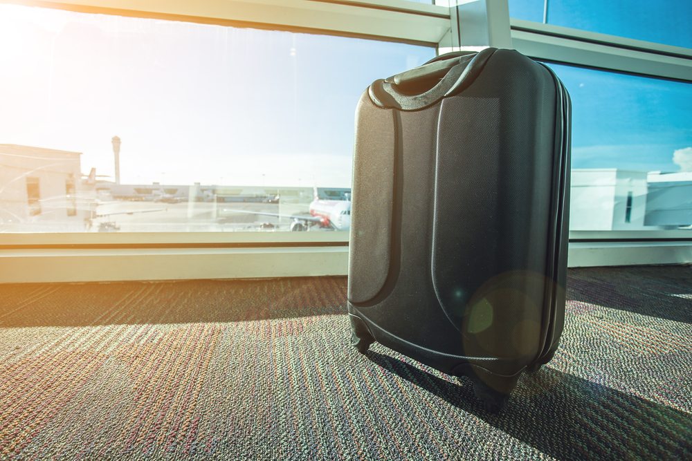 Smart luggage in an airport