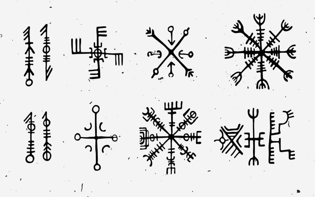 Scandinavian runes. Icelandic descended from Old Norse.