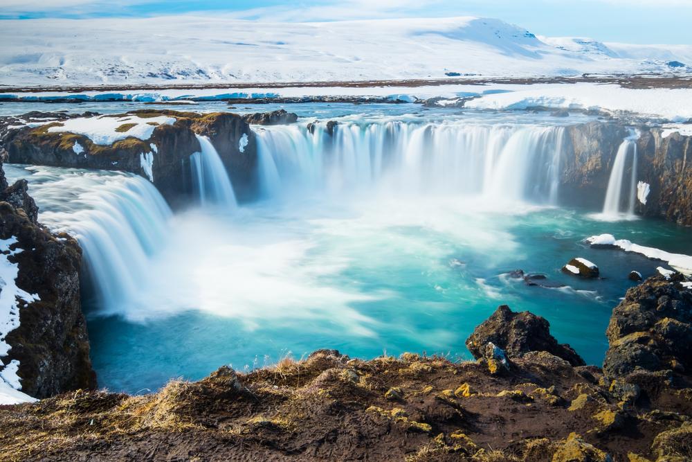 Iceland's spectacular Godafoss waterfall
