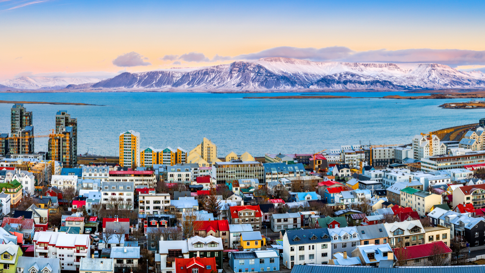 View of Reykjavik in the wintertime. The perfect place to start your five days in Iceland
