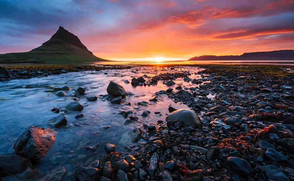 Beautiful Kirkjufell mountain on the Snafellsnes peninsula during Iceland in September