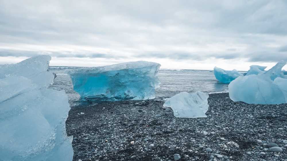 Iceland's Diamond Beach during a 5-day winter itinerary
