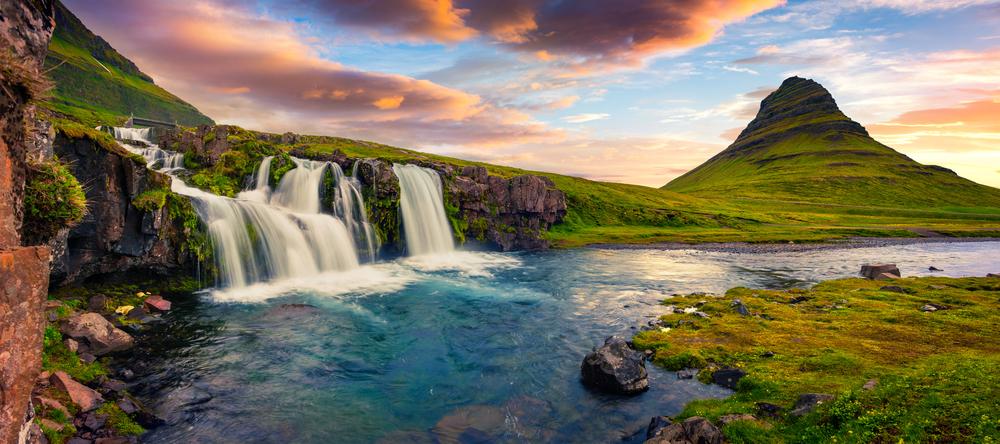 Kirkjufell and Kirkjufellsfoss on self-drive tour of Snaefellsnes peninsula