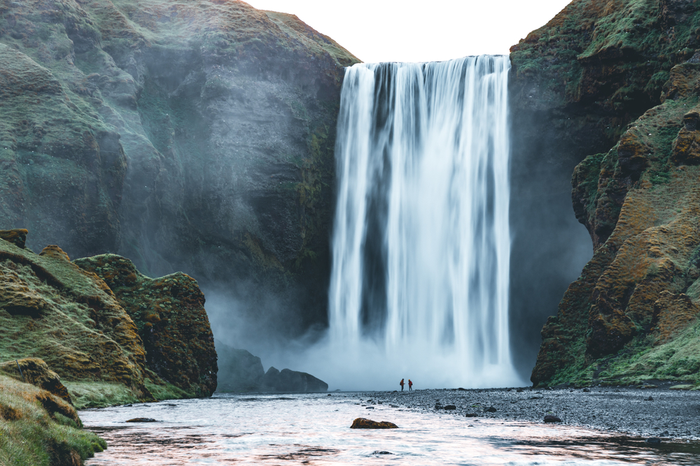 Majestic Skógafoss waterfall on South Iceland 5-day or 7-day itinerary