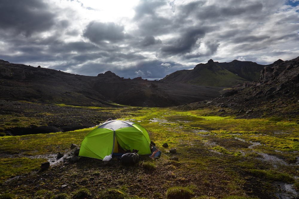 Wild camping is illegal in parts of Iceland