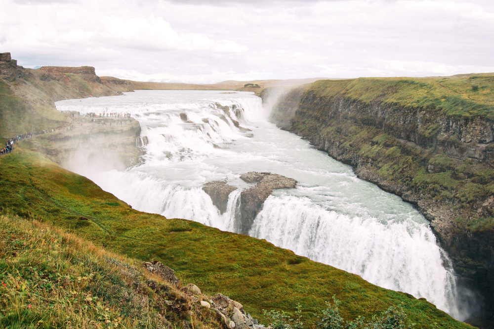 Gullfoss waterfall is part of the Golden Circle and our 7-day South Iceland itinerary