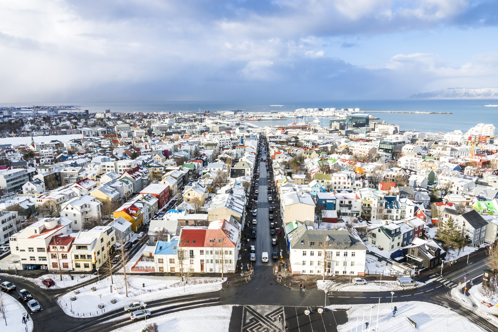 Iceland's February weather covers Reykjavik in snow