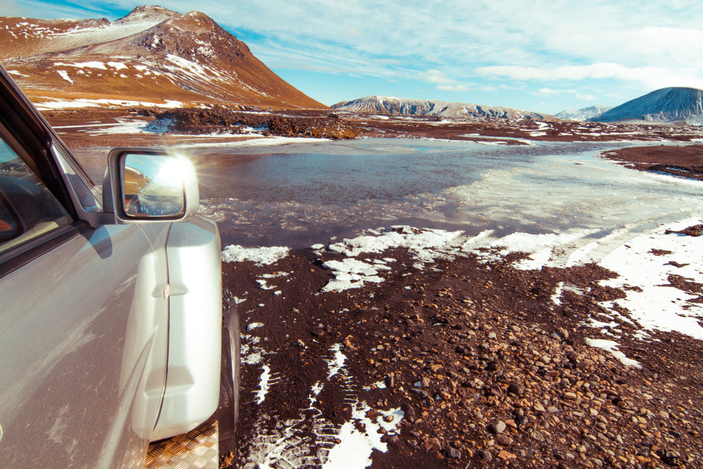 Do you need to rent a 4x4 vehicle in Iceland? If you're in the Highlands like this car, yes.