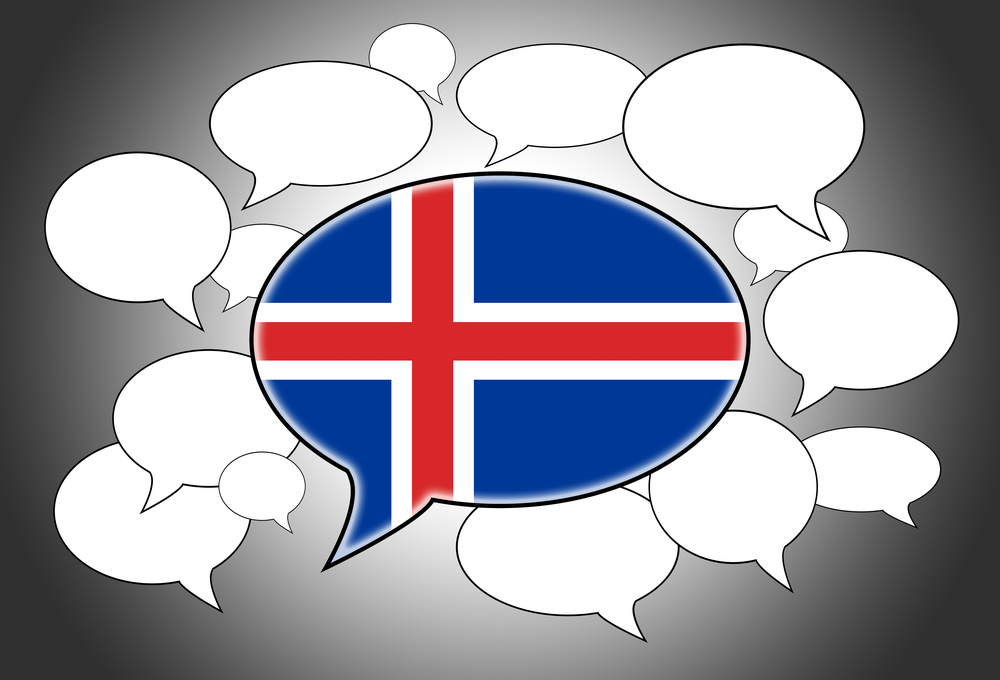 Icelandic speech bubble. Do they speak English in Iceland?