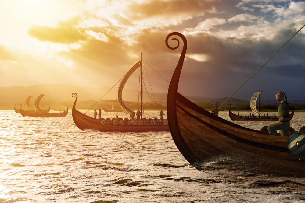 Iceland's Sagas include exploration in these Drakkar longboats