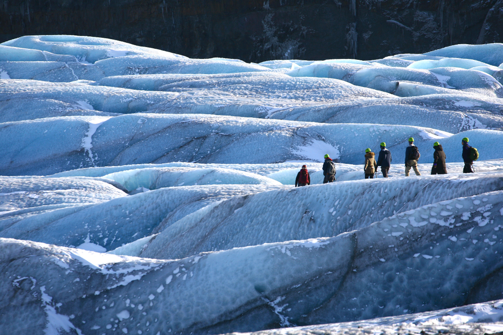 Glacier hikes and glacier caves are popular at Skaftafell