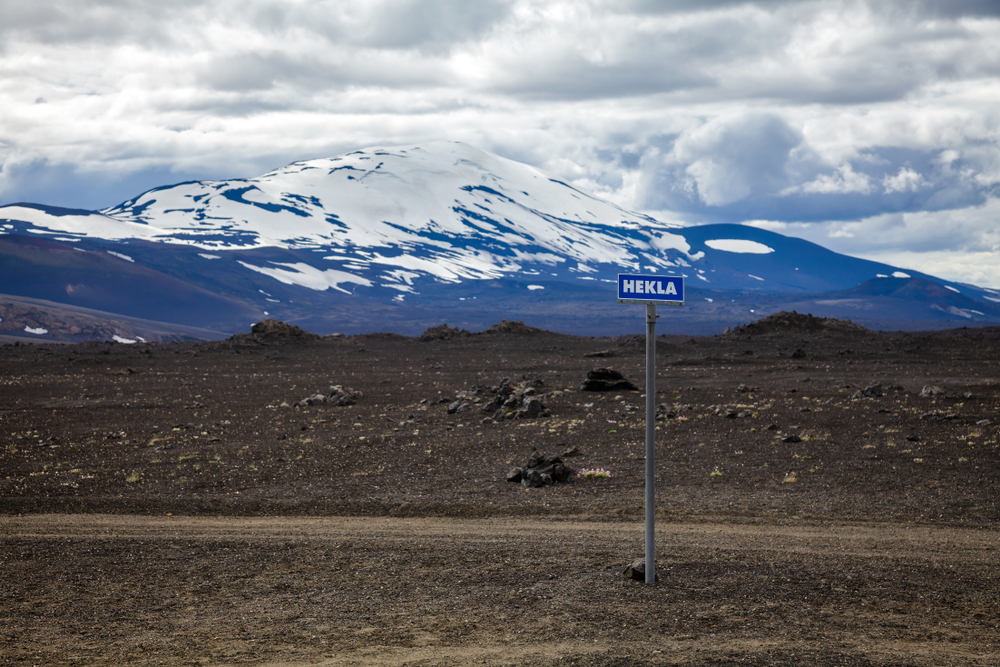 Hekla is one of Iceland's active volcanoes