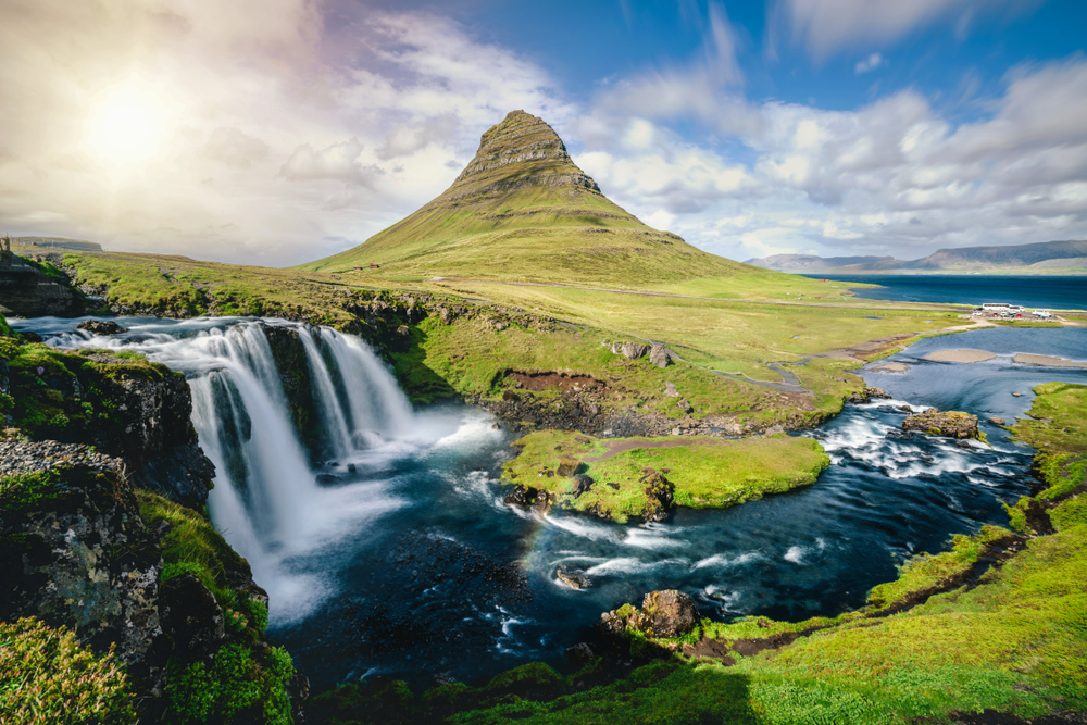 Kirkjufell's steep, rocky incline is not suitable for climbing