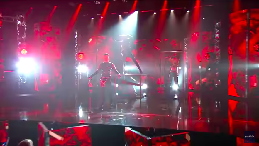"Hatari performing their Eurovision entry ""Hate will prevail"""