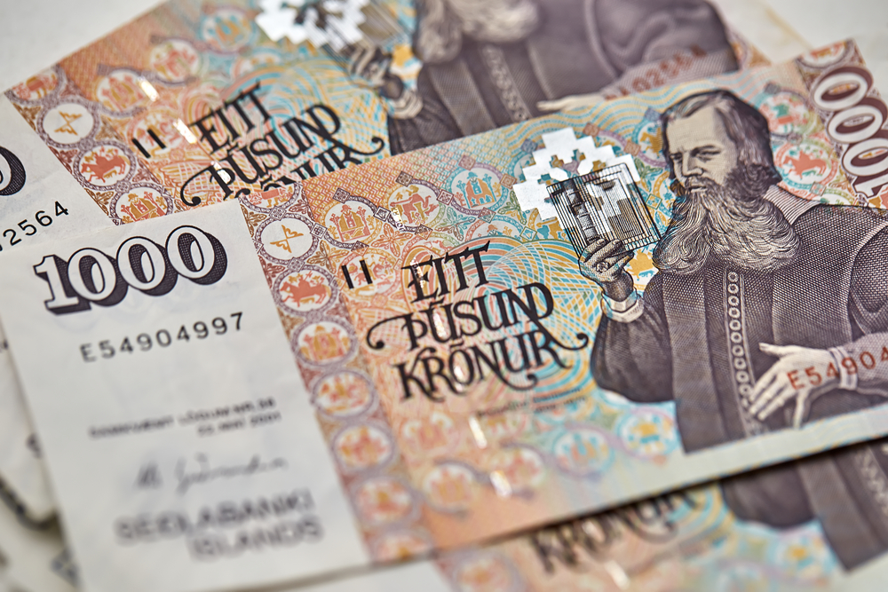 Icelandic currency 1000 króna banknote