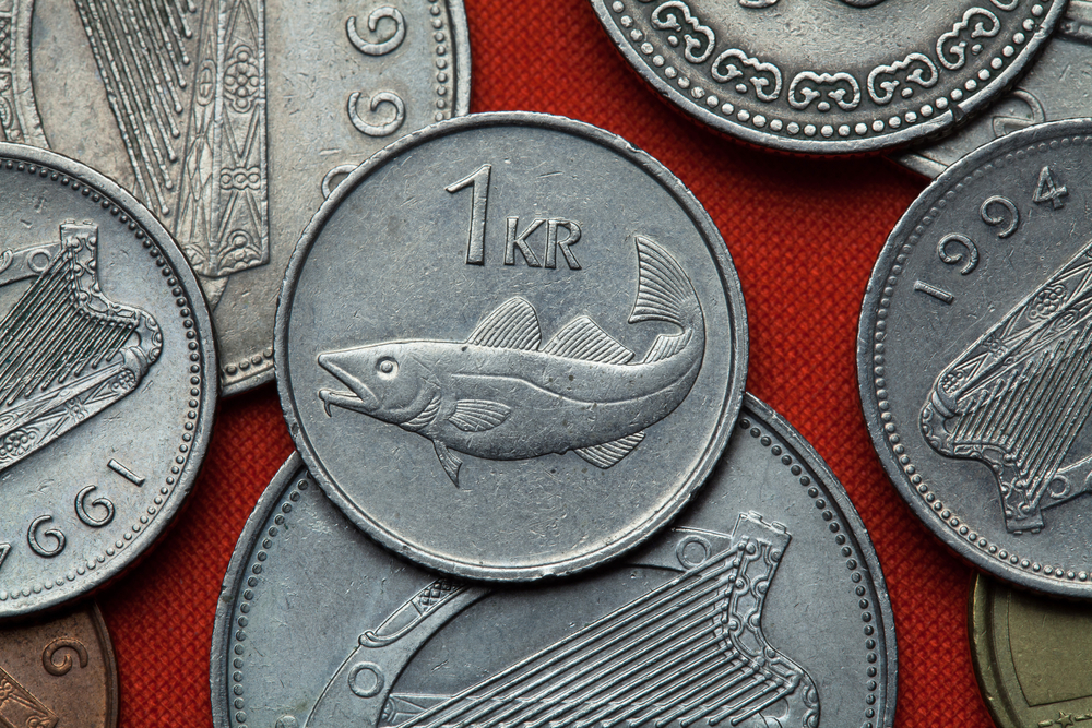 Icelandic currency króna coins