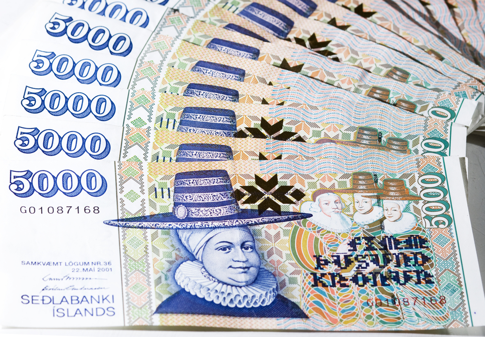 Icelandic currency 5000 króna banknote