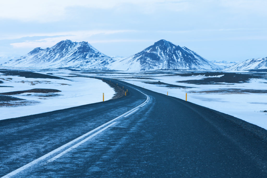 4x4 camper rental Iceland winter road conditions