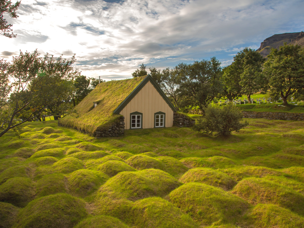 Prettiest churches in Iceland like the Hof turf church