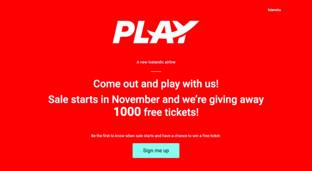 PLAY Airlines is giving away free plane tickets to Iceland